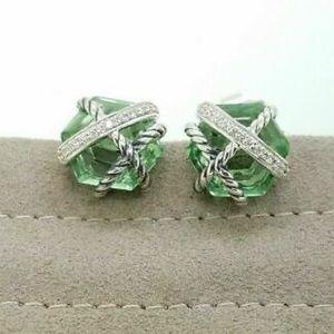 David Yurman Prasiolite Wrap Earrings